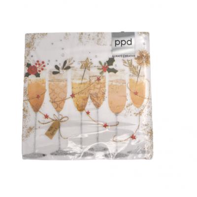 Guardanapos copos de champagne