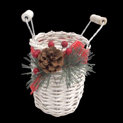 Garrafa com cesto natalício
