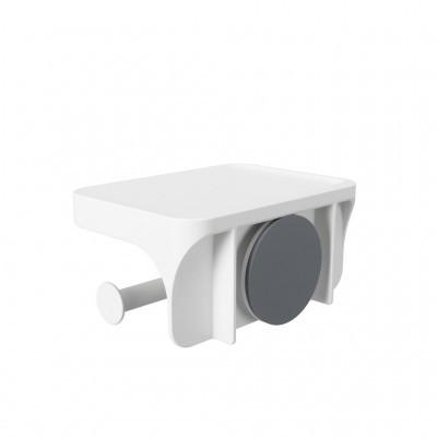 Suporte rolo de papel + mini prateleira (c/ ventosa)