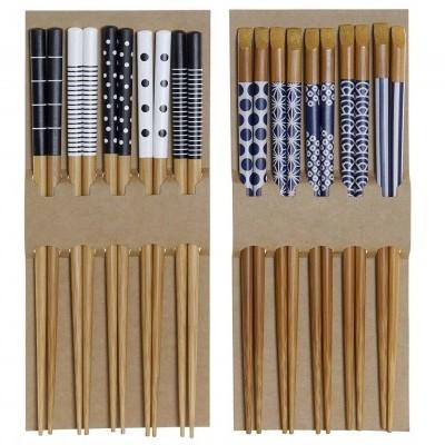 10 Pauzinhos em bambu (2 PADRÕES DISPONÍVEIS)