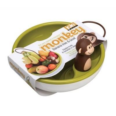 Fruteira macaco com suporte para bananas