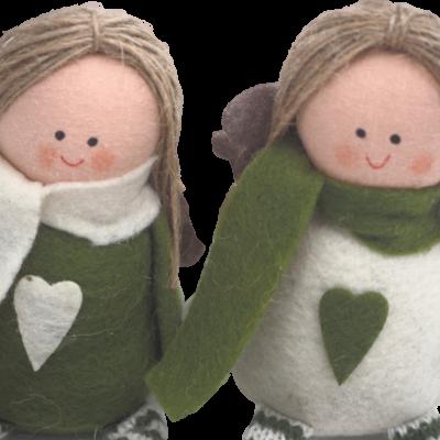 Decoração anjo verde (2 CORES DISPONÍVEIS)