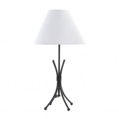 Candeeiro de mesa simples base metal preto