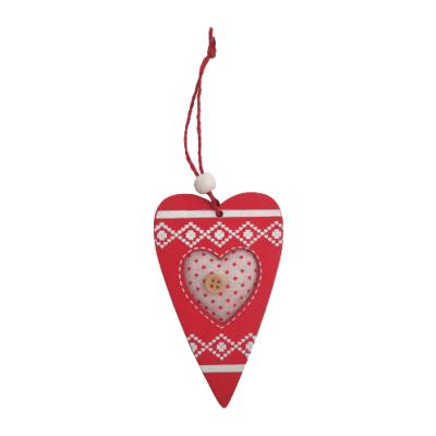 Decoração de pendurar - coração madeira (2 CORES DISPONÍVEIS)