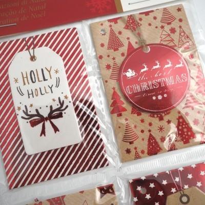 Conjunto 4 cartões prenda natal (2 MODELOS DISPONÍVEIS)
