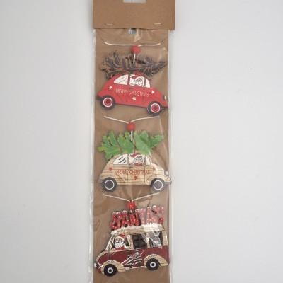 Set 3 Decorações de pendurar - carros