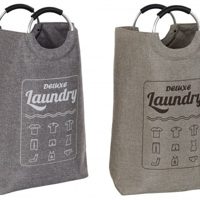 Cesto para roupa lavandaria (2 CORES DISPONÍVEIS)