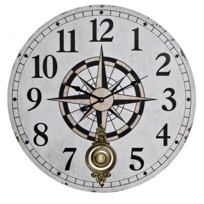 Relógio grande de parede bússola (BR)