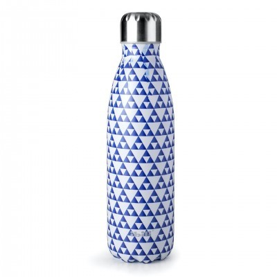 Garrafa termo 500 mL mosaico azul