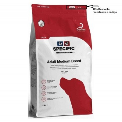 Specific CXD-M  Adulto Medium Breed  Cão 12 KG