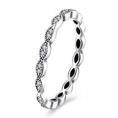 Anel / aliança de prata 925 compatível com pandora
