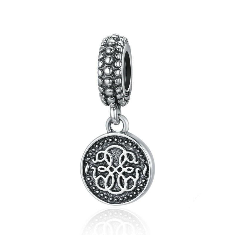 Conta pingente de prata 925 compatível com pandora (símbolo da vida)