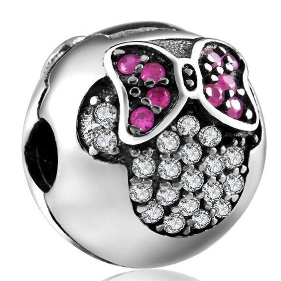 Conta de prata 925 compatível com pandora (Minnie) - Clip