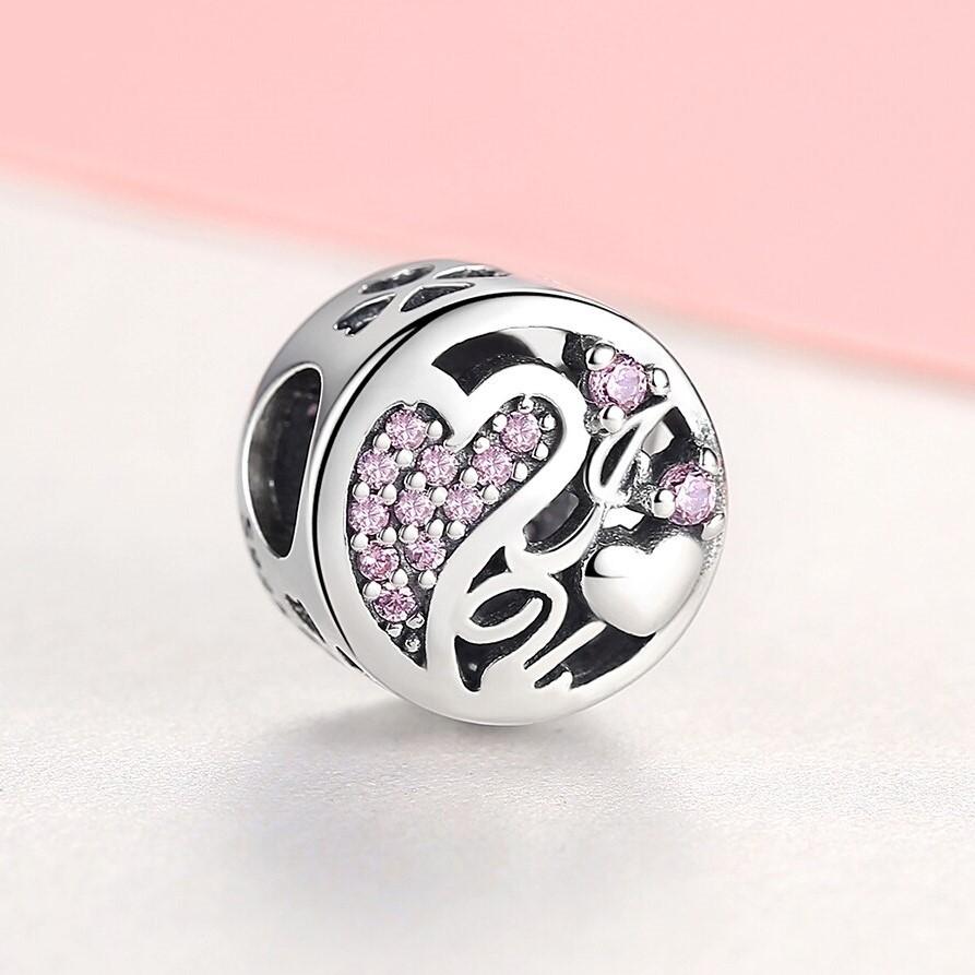 Conta de prata 925 compatível com pandora (love)