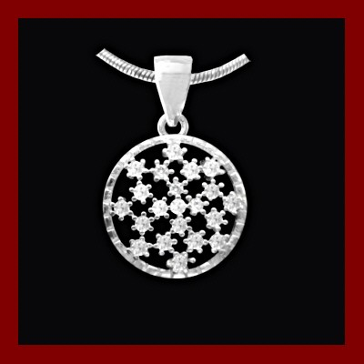 Pendente / Pingente de prata 925 com pedras Zircônia cúbica
