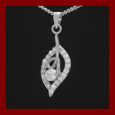 Pendente / Pingente de prata 925 com pedras zircão