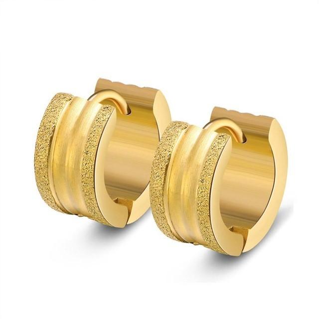 Argolas / Brincos de aço inoxidável cor ouro