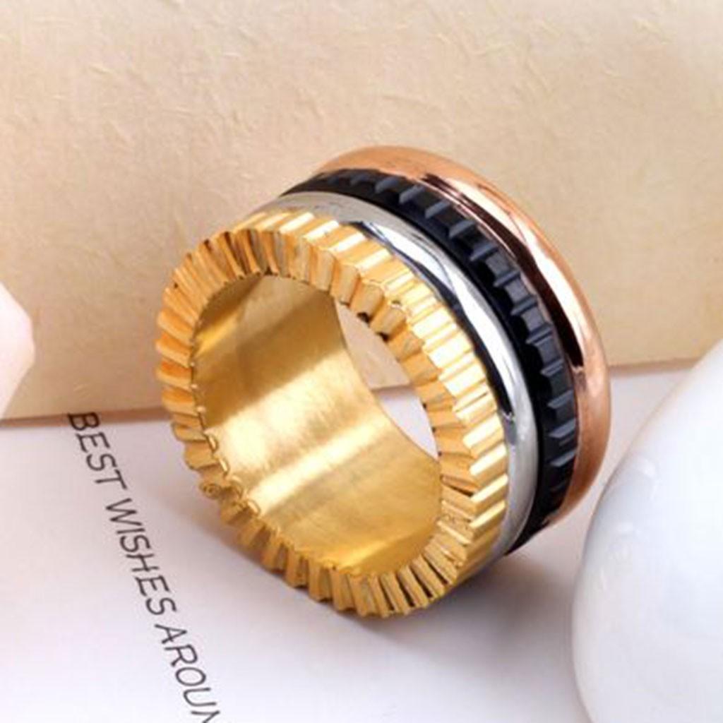 Aliança / anel de aço inoxidável 4 cores