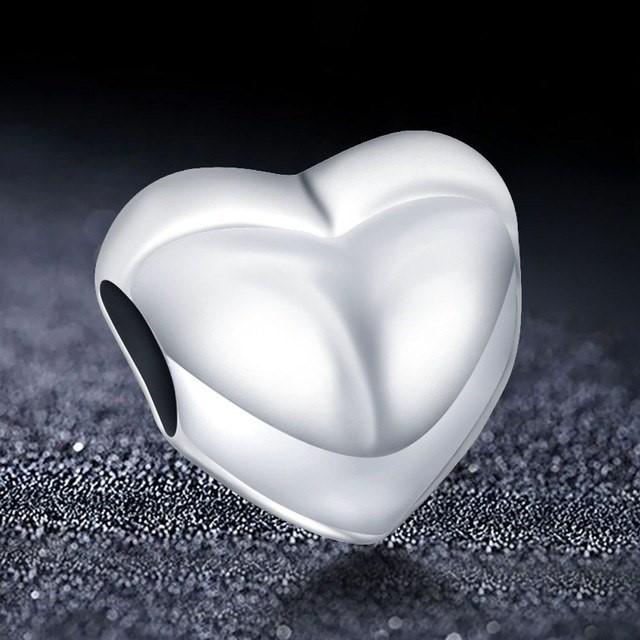Conta de prata 925 compatível com pandora (coração)