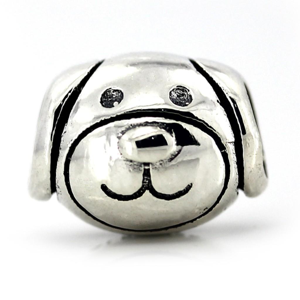 Conta de prata 925 compatível com pandora (cão)