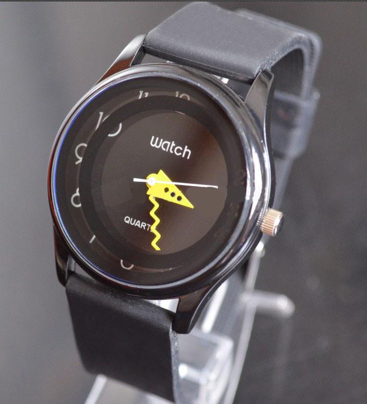 Relógio compatível com swatch preto