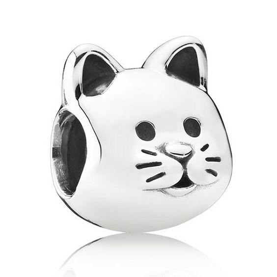 Conta de prata 925 compatível com pandora (gato)