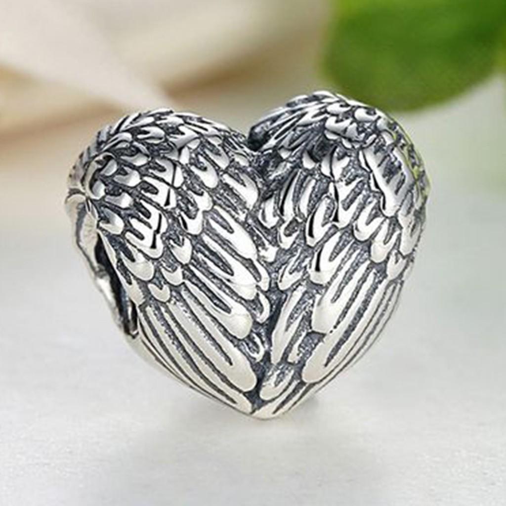 Conta de prata 925 compatível com pandora (asas de anjo)