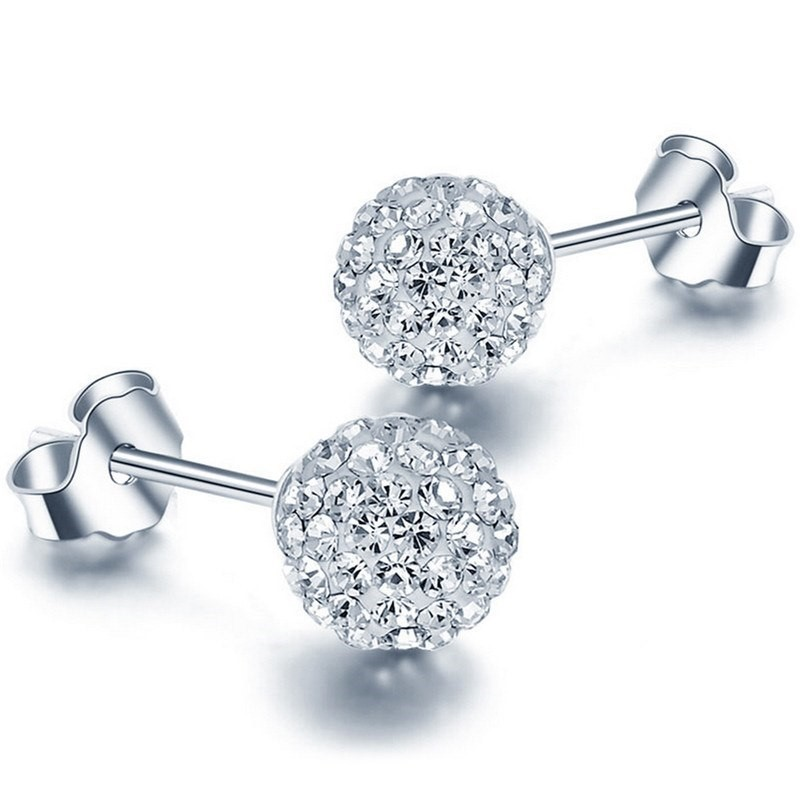 Brincos de prata 925 com cristais