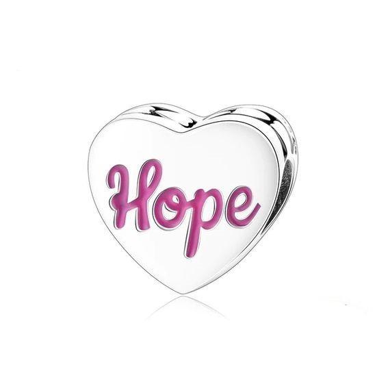 Conta de prata 925 compatível com pandora (hope)
