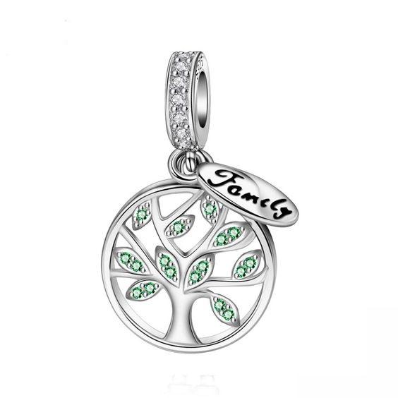 Conta pingente de prata 925 compatível com pandora (family)