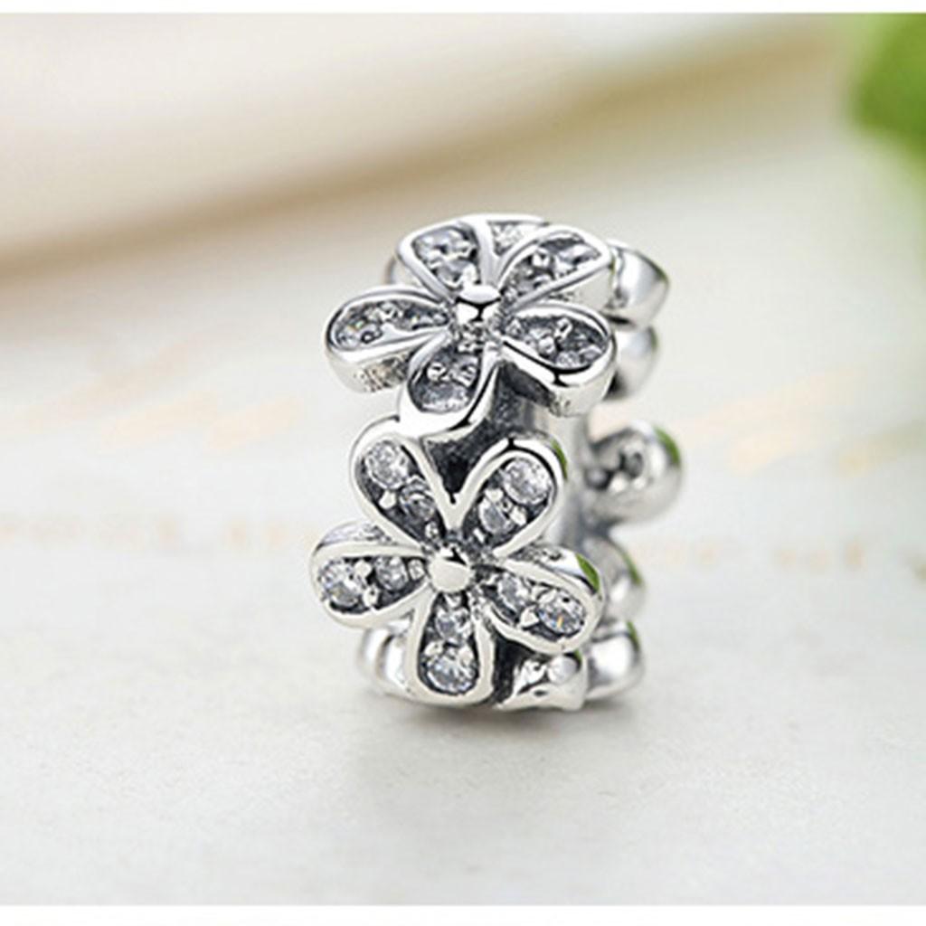Conta de prata 925 compatível com pandora (flores)