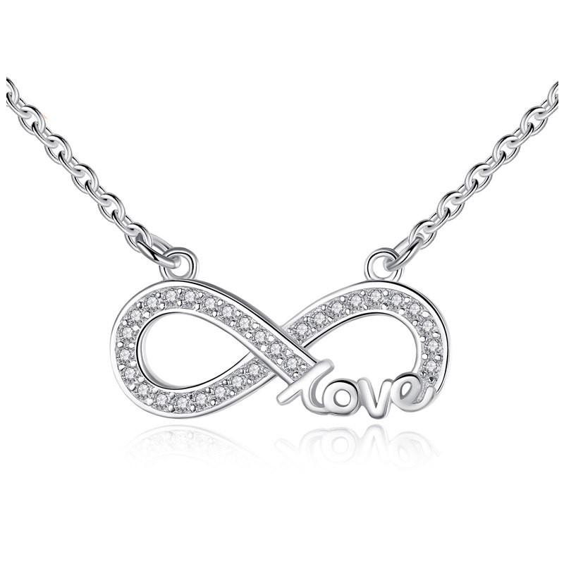 Fio de prata 925 com pendente (infinito + love)