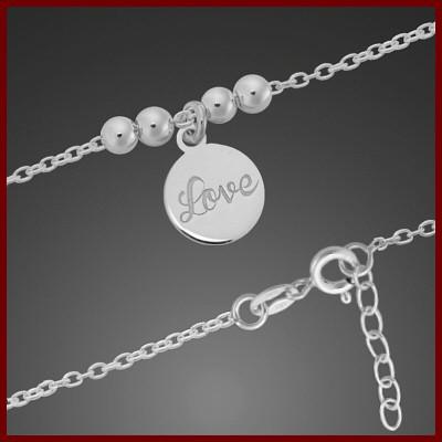 Pulseira / tornozeleira de prata 925 (Love)