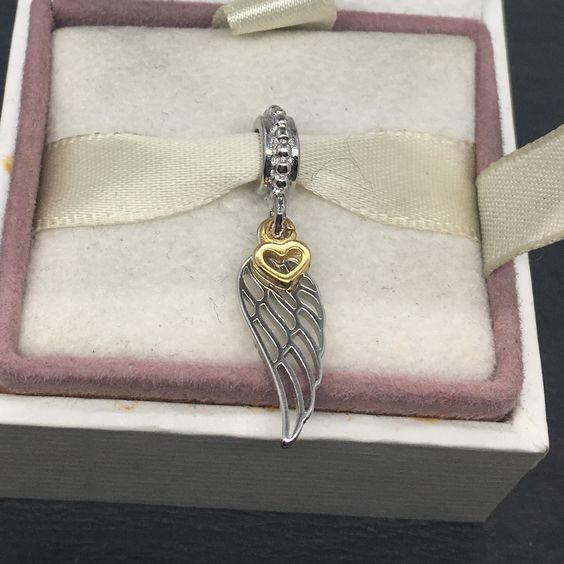 Conta pingente de prata 925 compatível com pandora (amor e espiritualidade)