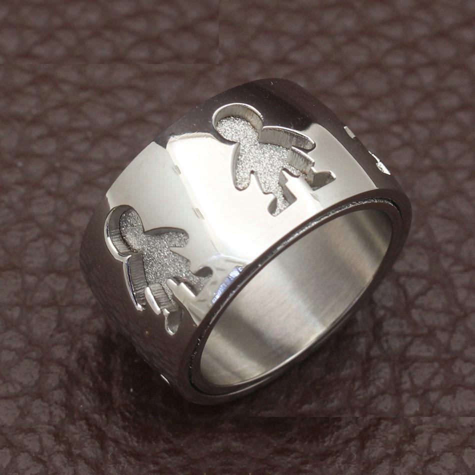 Aliança / anel de aço inoxidável (menino)