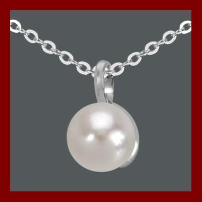 Pendente / Pingente prata 925 c/ pérola sintética com fio de prata