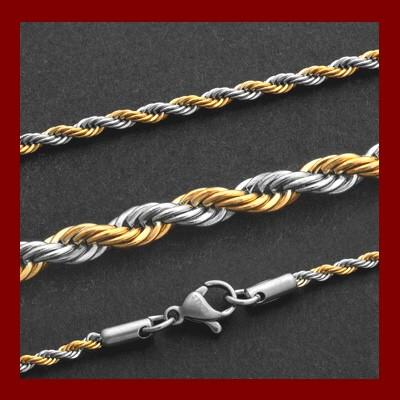 Fio de aço inoxidável cor ouro/prata
