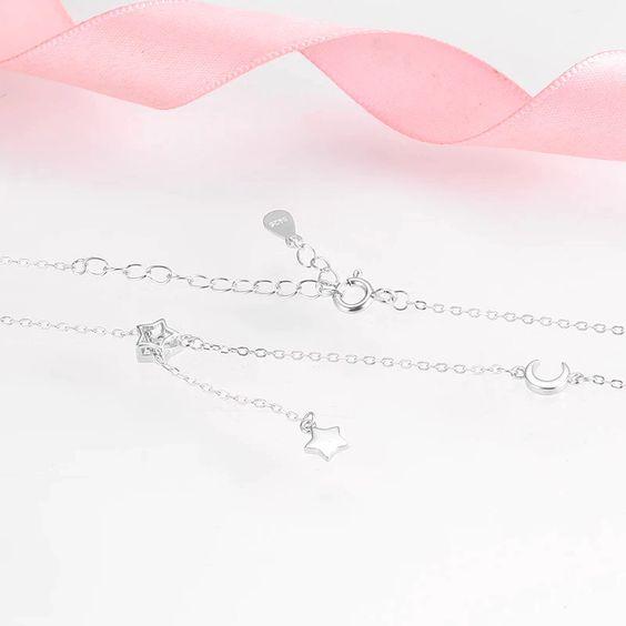 Fio / Colar de prata 925  (estrelas e lua)