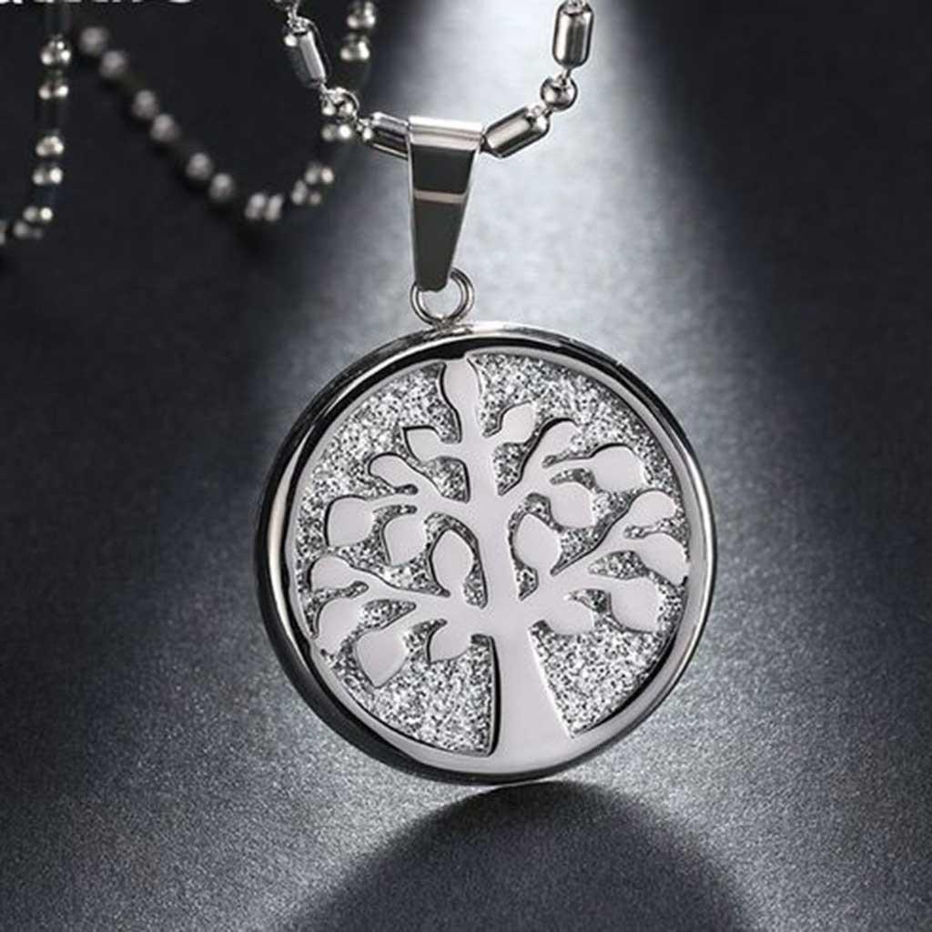 Pingente / pendente de aço inoxidável (Árvore da vida)