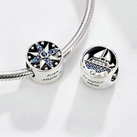Conta de prata 925 compatível com pandora (no matter where)