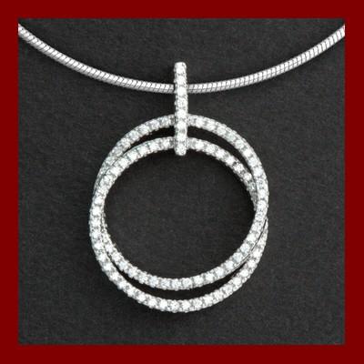Pendente / Pingente de prata 925 com pedra Zircônia cúbica