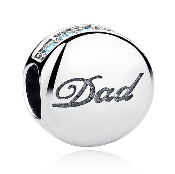 Conta de prata 925 compatível com pandora (pai - dad)