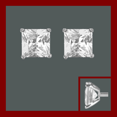 Brincos de prata 925 com 1 pedra zircônia cúbica
