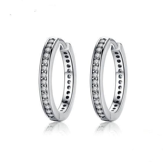 Argolas / Brincos de prata 925 com pedras zircão