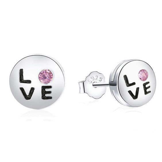 Brincos de prata 925 - LOVE