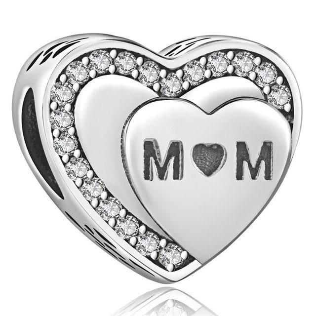 Conta de prata 925 compatível com pandora (Mom)