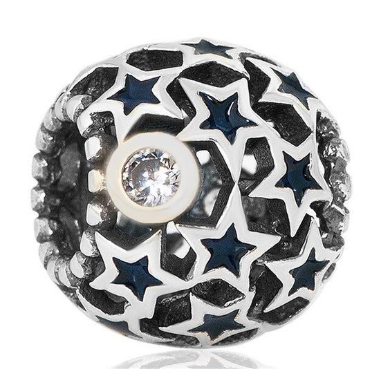 Conta de prata 925 compatível com pandora (céu noturno)