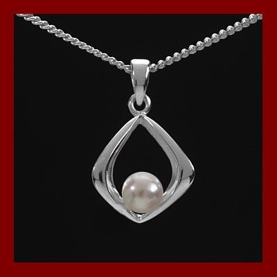 Pendente / Pingente prata 925 com pérola natural