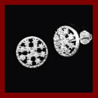 Brincos de prata 925 com pedras zircônia cúbica