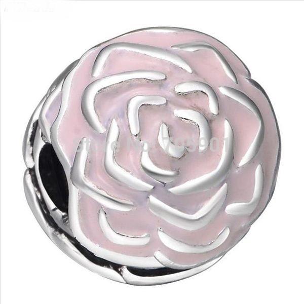 Conta de prata 925 compatível com pandora (rosa garden) - Clip